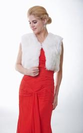Sleeveless Faux Fur Bridal Jacket