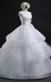 Sweetheart Organza  Sleeveless Wedding Dress