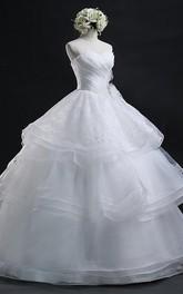 Sweetheart Organza  Sleeveless Wedding Dress