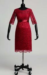 Jewel Half Sleeve Empire Maternity Pleats Ruching Dress