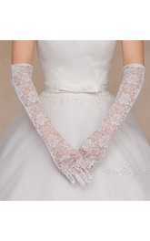 Thin Lace Long Gloves