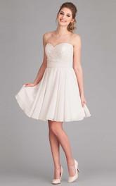 Sweetheart Lace Criss cross short Dress
