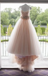 Sweetheart Tulle  Sleeveless Wedding Gown
