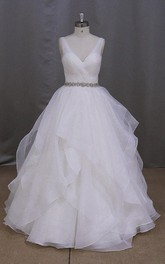 Princess Ruched Rhinestone Romantic Graceful Ball Gown