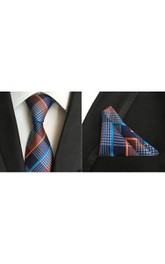 Satin Wide Tie and Pocket Square Combo-11 Color Options