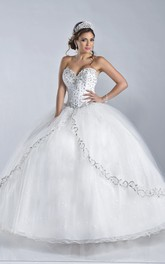 Ball Gown Sweetheart jeweled Quinceanera Dress With Corset Back