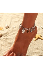 Beach Wedding Cute Anklet with Shell Starfish and Sea Turtle