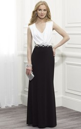Chiffon Cowl-Neckline Sleeveless Mother Of The Bride