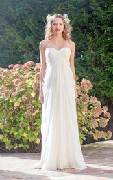 Sheath Wedding Empire Sweetheart Chiffon Dress