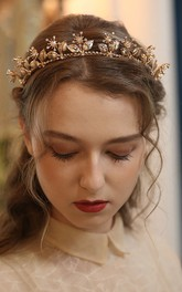 Elegant Alloy Headpieces in Floral Style