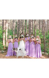 Sweetheart Criss-cross Floor-length Bridesmaid Dress With Pleats