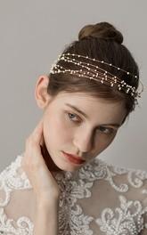 Korean Style Lovely Pearl Bridal Headbands