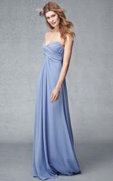 Sweetheart Criss cross Empire Chiffon Bridesmaid Dress