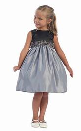 Satin Layered Midi Flower Girl Dress
