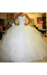 Sweetheart Tulle  Sleeveless Wedding Dress