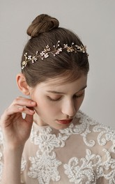 Forest Style Golden Rhinestone Hairbands