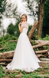 Tulle Tulle Bolero A-Line Sweetheart Wedding Dress