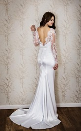Fishtail Lace Bateau-Neckline Sassy Wedding Dress