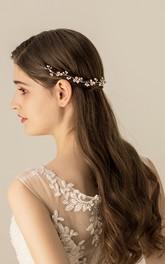 Delicate Fresh Rhinestone Flower Headbands