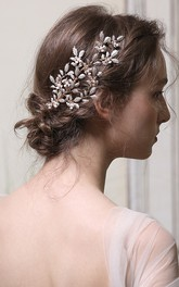 Leaf Style Elegant Bridal Hair Combs with Beads
