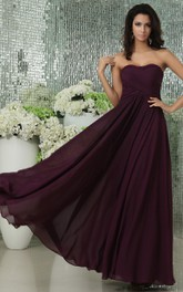 Sweetheart Draping Long Gorgeous Dress