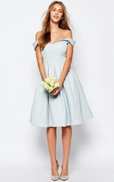 adorable Off-the-shoulder A-line Satin Dress