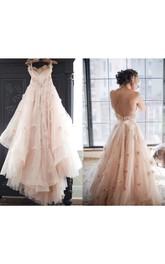 Sleeveless Floral Wedding Spaghetti Sassy Tulle Dress