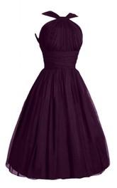 Haltered short Chiffon A-line Dress With Pleats