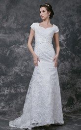 English-Net Ruched Band Sweetheart Breathtaking Gown