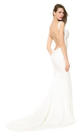 Backless Backless Inspire Floor-Length Elegant Mermaid Gown