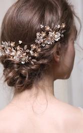 Elegant Vintage Floral Hair Combs with Pearls