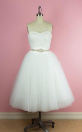 Short Waist Jewellery Criss-Cross Sweetheart Gown
