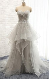 Sweetheart Tulle  Sleeveless Wedding Dress