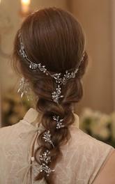 Original Handmade Crystal Rhinestone Headbands and Rings