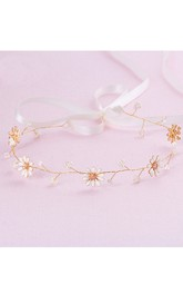 Beautiful Fresh Bridal Hairband With Chrysanthemum Rhinestone