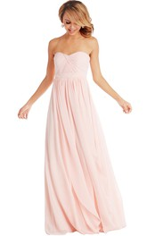 Sweetheart Floor-length Chiffon Bridesmaid Dress With Ruching