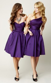 One-shoulder Sleeveless Criss cross Bridesmaid Dress