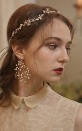 Elegant Forest Style Beaded Headbands and Rings