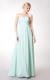 High-Waist Chiffon Sleeveless Sweetheart A-Line Bridesmaid Dress