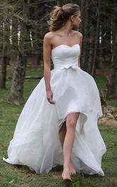 Sweetheart Chiffon  Sleeveless Wedding Gown