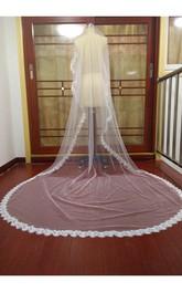 High-end Western Style Lace Applique Super Long Veil
