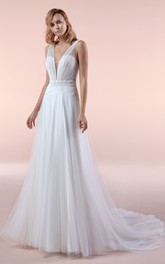 Adorable Sleeveless Sheath Court Train Bridal Gown