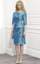 Half-Sleeve Scoop-Neckline Short-Midi Mother Of The Bride