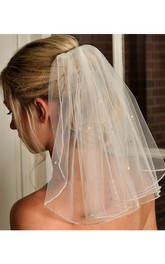 Korean Style New Bride Short Pearl Veil