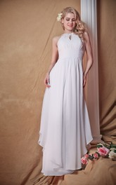 Ruched Waist Side Draping Racer Majestic Dress