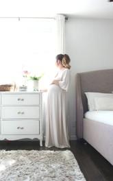 Pregnant Kimono Nursing Gown