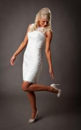 Sleeveless Lace-Up Back Lace Full Bridal Dress