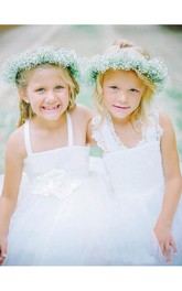 Lace Cross Back Tulle Lovely Flower Girl Dress