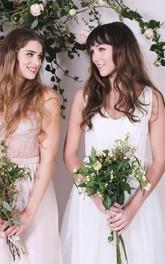 Ivory Floor-length Tulle Bridesmaid Dress