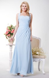 Column Crisscross Back Side Wonderful Gown
